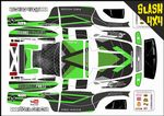 Green Carbon GT themed vinyl SKIN Kit To Fit Traxxas Slash 4x4 Short Course Truck